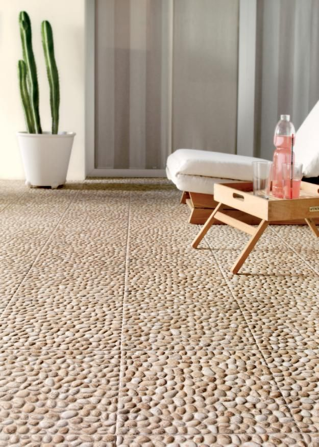 Navarti's Riverstone outdoor tiles Garden Design