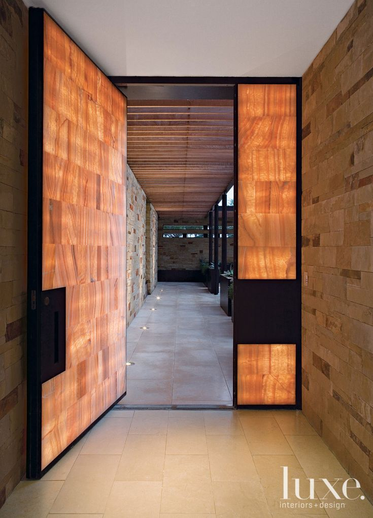 Modern Onyx Tile Front Door | Luxe | Entries + Foyers ...