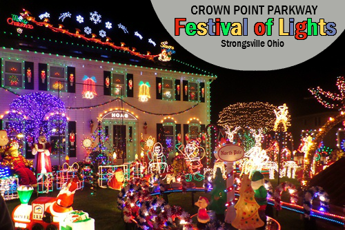 Crown Point Parkway Festival of Lights Festival lights
