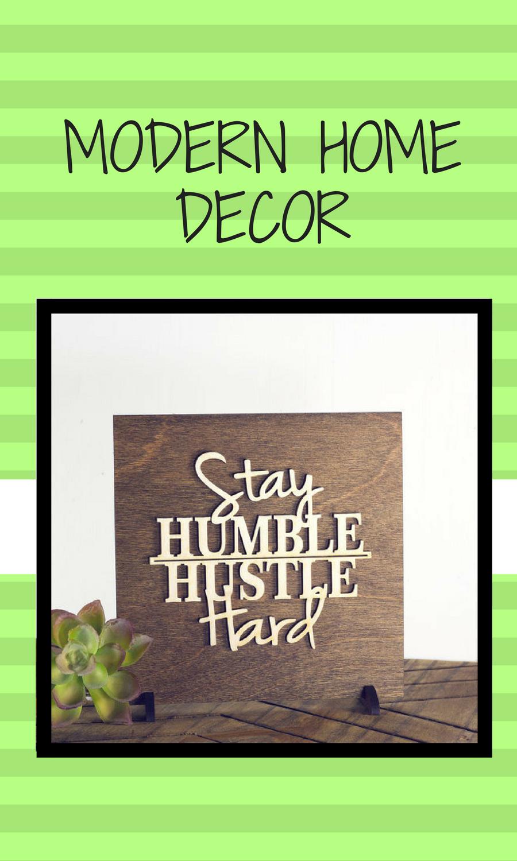 Inspirational Art Home Office Decor Modern Wood Signs Gift Ideas