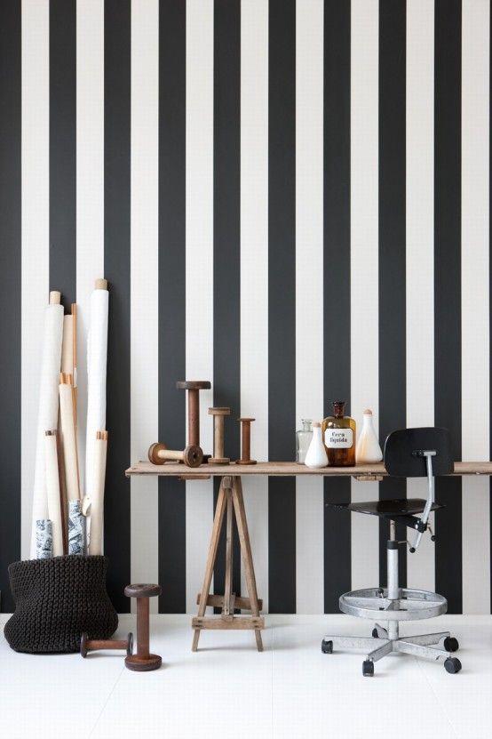 10 coole schwarz-weiße Tapeten für mehr Eleganz und Stil Tapeten - wohnzimmer in schwarz weiss stil