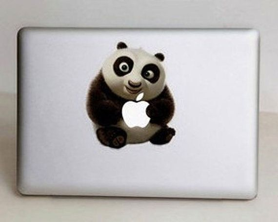 Panda  Mac Decal Macbook Stickers Macbook Decals par Worldcake, $8,50