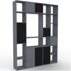Photo of Wohnwand Anthrazit – Individuelle Designer-Regalwand: Türen in Schwarz – Hochwertige Materialien – 1
