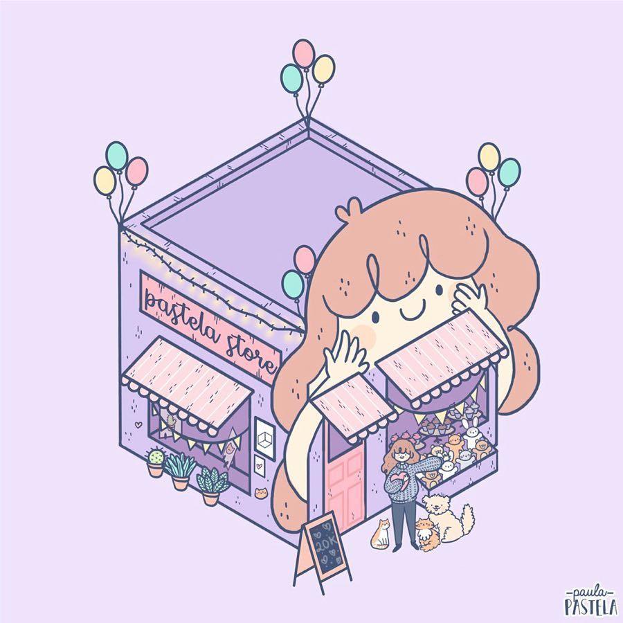 please, do not repost my art :) | 插画 in 2019 | Cute art, Isometric