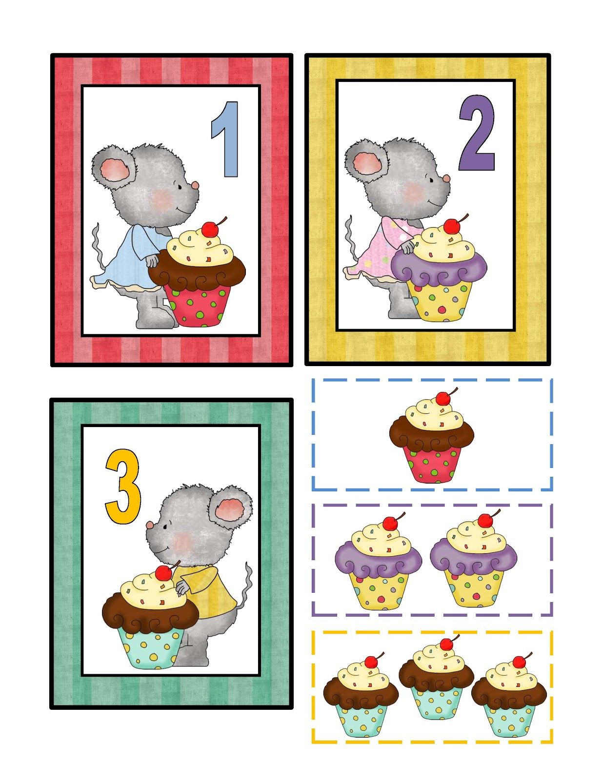 Preschool Printables Free Mouse Cupcake Printable Teaching