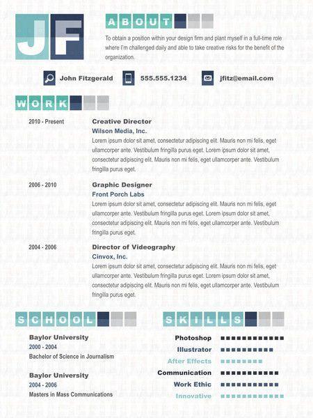 Videographer Resume Resume  Creative Resume  Pinterest  Creative Cv Professional .