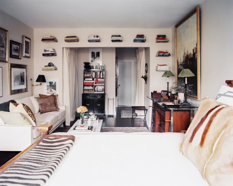 These Studios Prove That One Room Living Can Be Super Stylish Apartment Layout Studio Apartment Layout Apartment Therapy Small Spaces