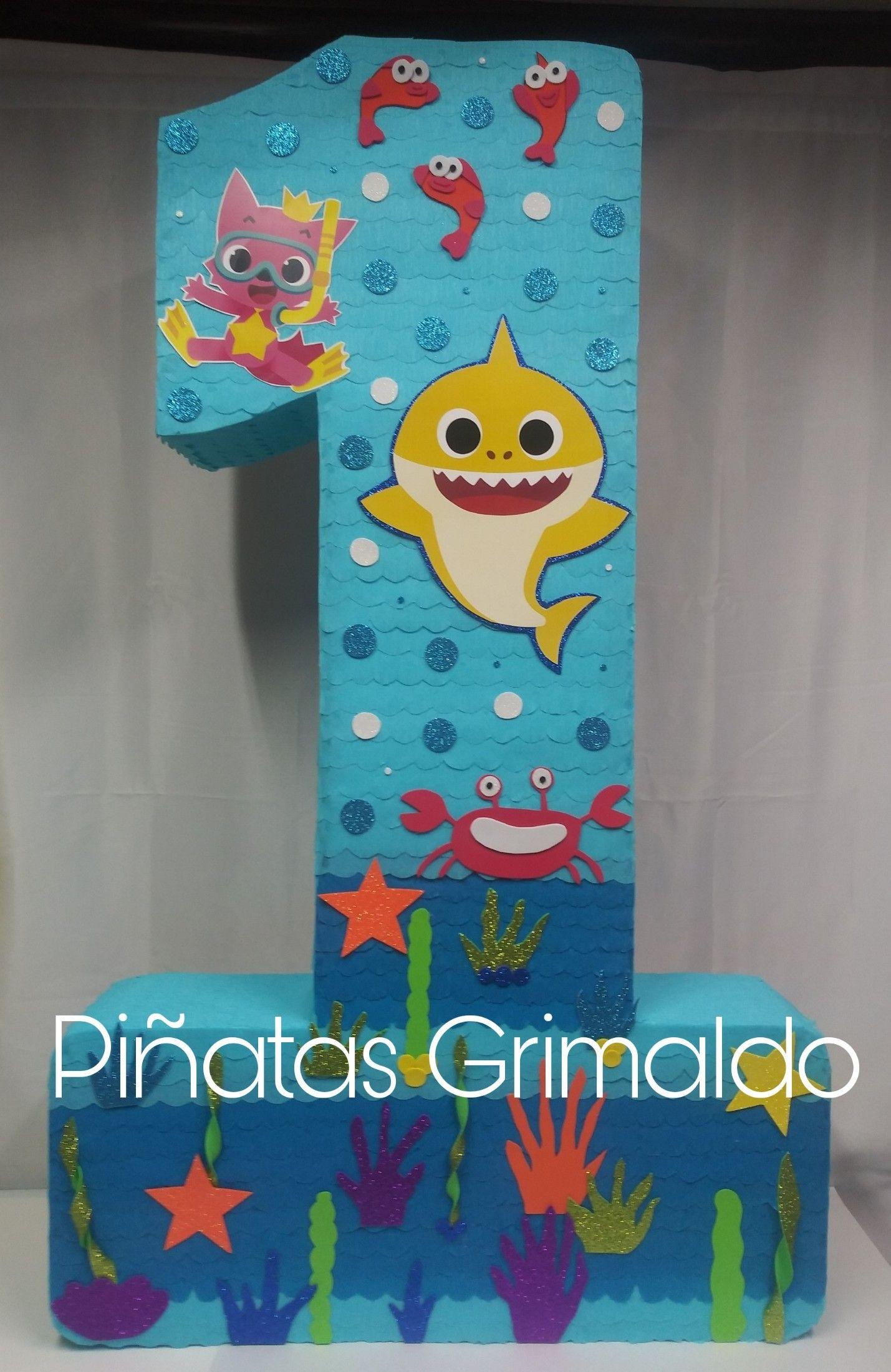 Pinata 1 Baby Shark Shark Birthday Party Baby Shark 1st Birthday Pictures