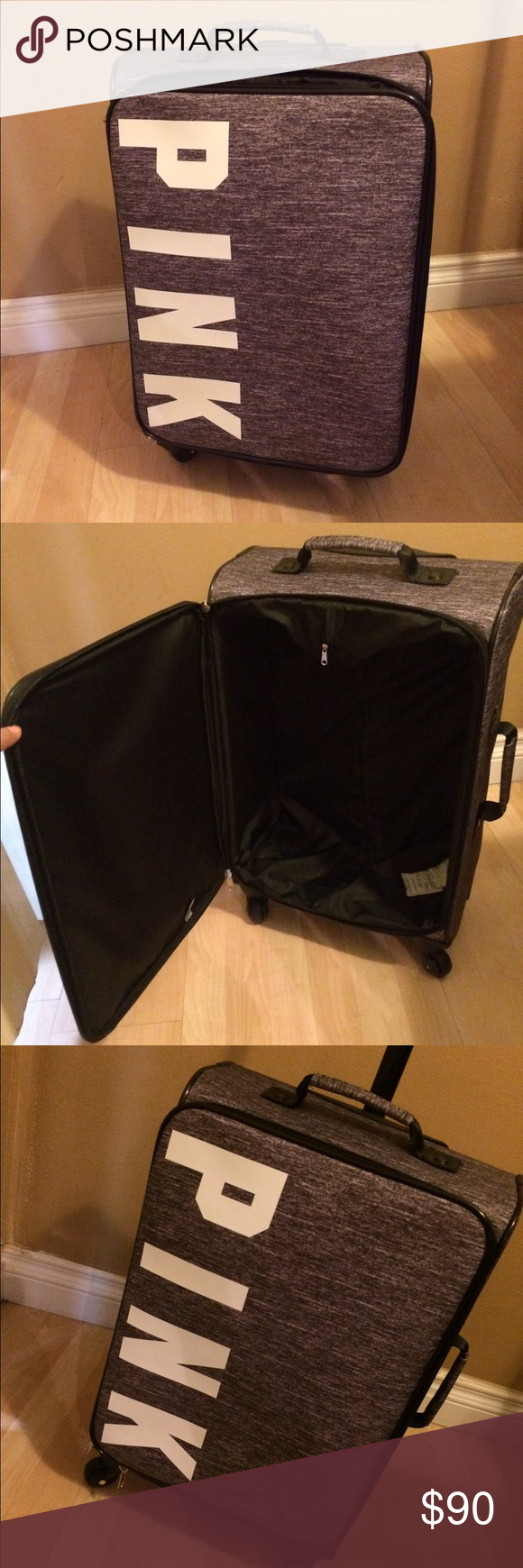 2b0aa856ab1e VS Pink Wheelie Suitcase Luggage This is brand new in plastic cover ...
