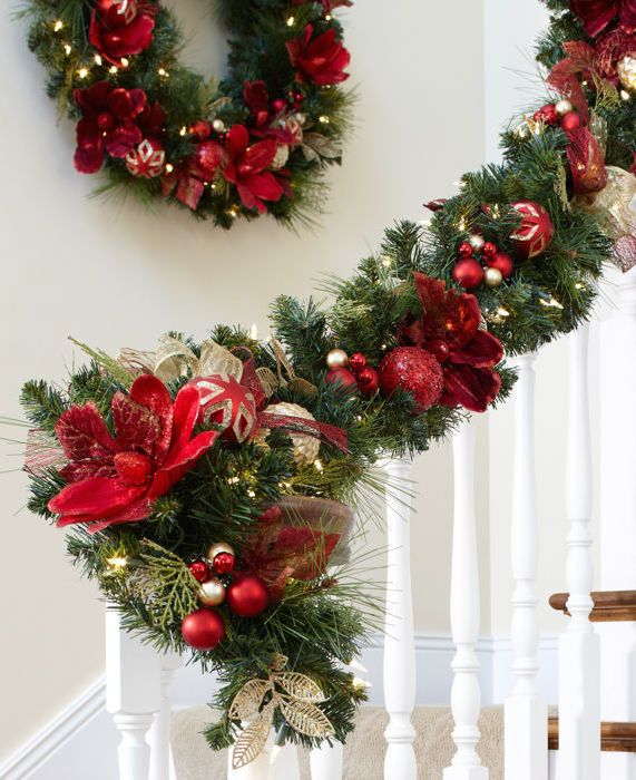It S Time To Deck The Halls The Entryway And Even The Banister With Our Led Pre Affordable Christmas Decorations Holiday Decor Christmas Christmas Decorations
