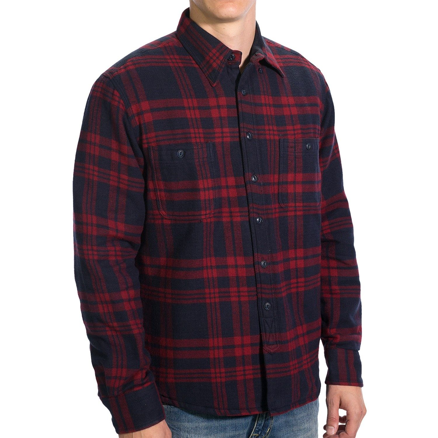 gant-c-campus-flannel-shirt-jacket-quilted-lining-for-men-in ...