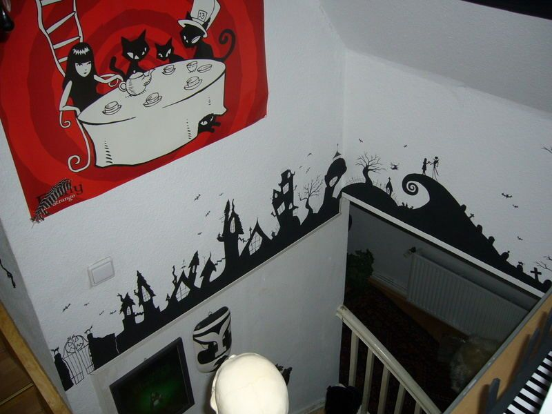 What I Want To Do To The Bottom Border Of My Laundry Room Christmas Wall Decal Nightmare Before Christmas Wall Painting