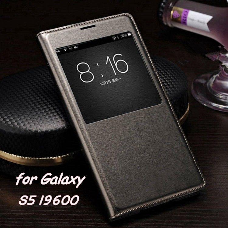 Sottile Vibrazione del Cuoio Della Copertura di Caso Per Samsung Galaxy S5 S i9600 5 astuta di Sonno Wake up Vista Casse Del Telefono Per S5 con Chip Impermeabile