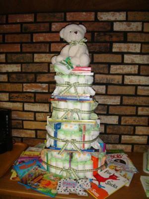 Storybook Baby Shower Book Labels Storybook Diaper Cake
