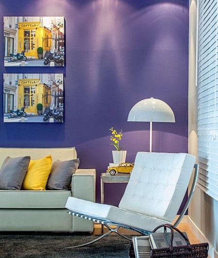 Como decorar a parede do sofá? Parte 1 Colour pallete, Purple