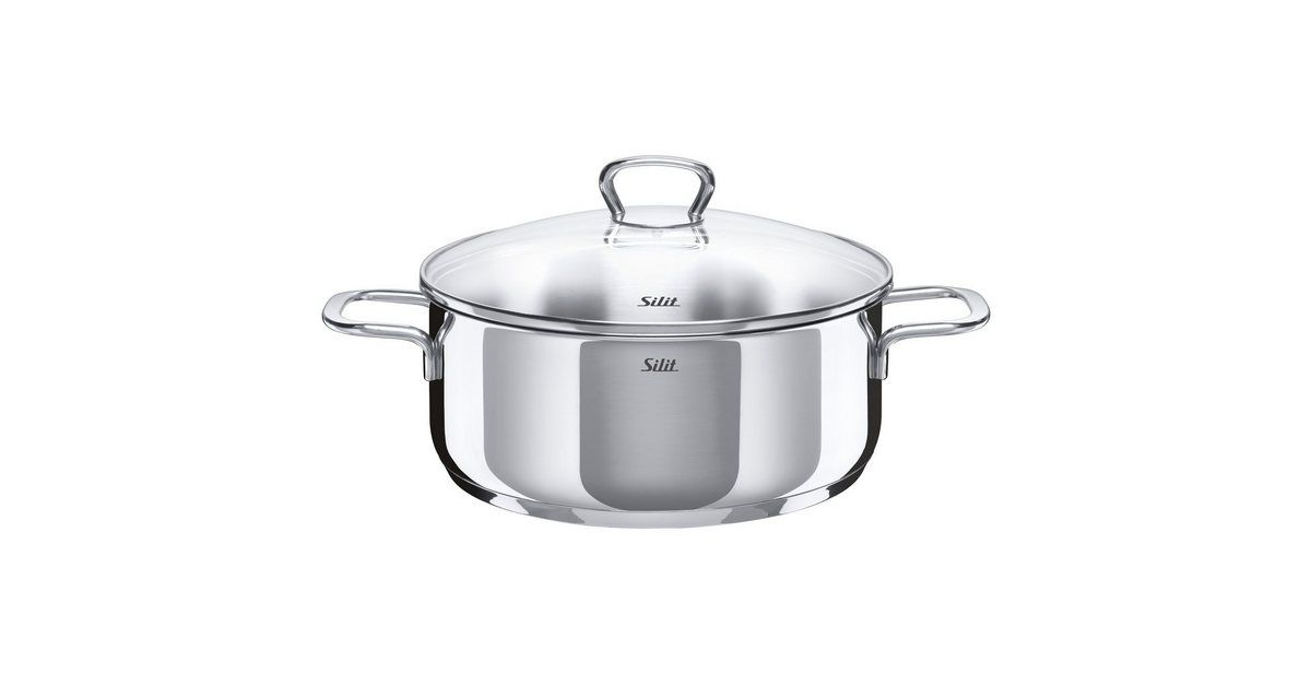 Photo of Silit saucepan, induction, glass lid, stainless steel 18/10 »Styl …