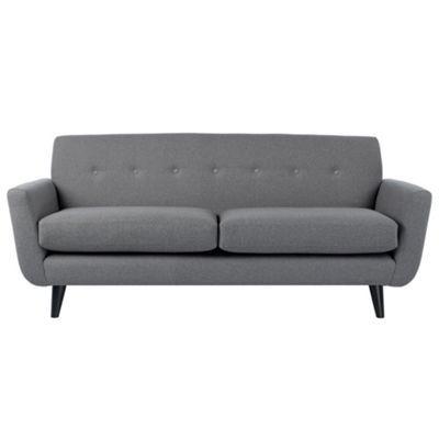 Ben De Lisi Home Large Grey Hockney Sofa With Dark Wood