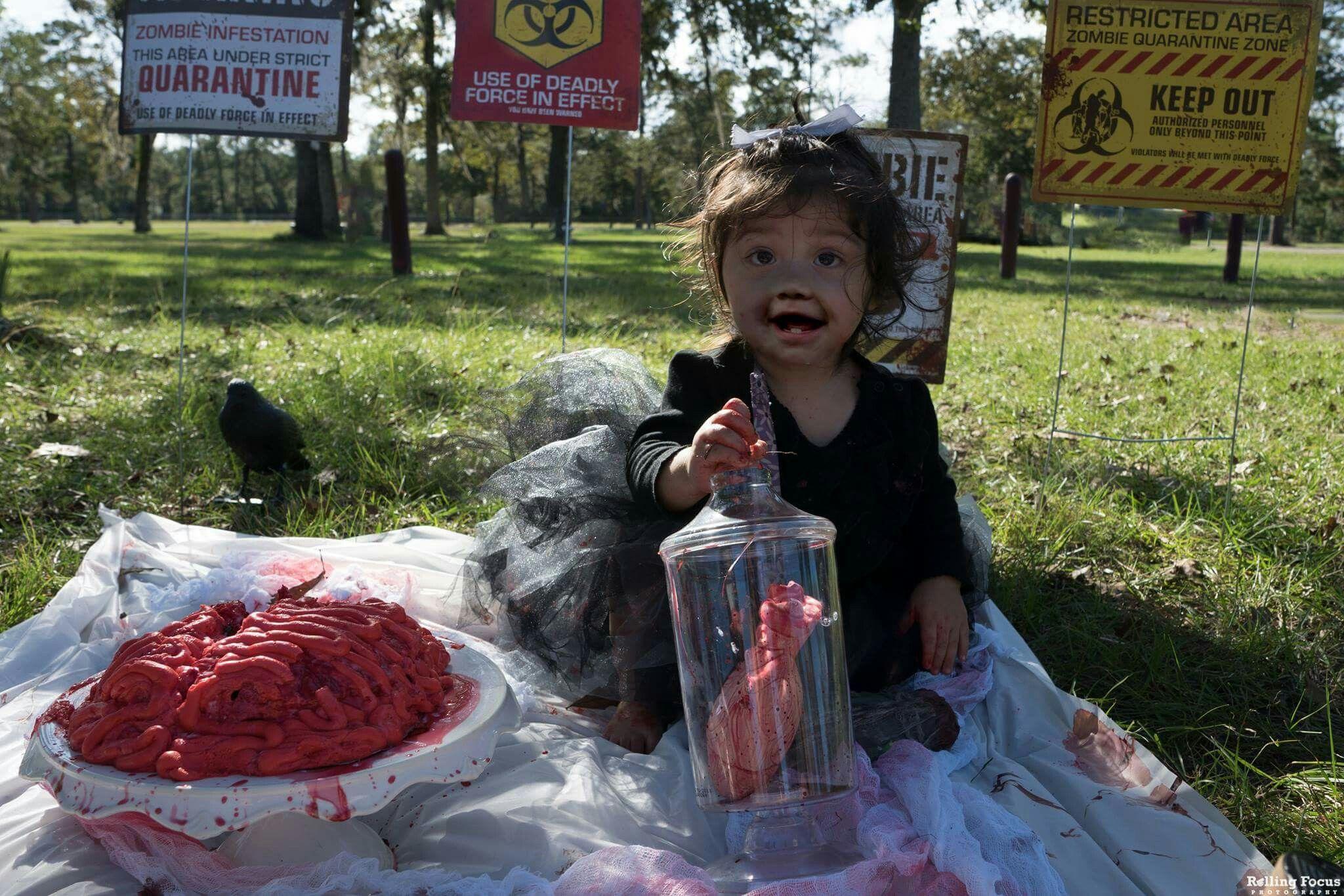 zombie smash cake halloween month baby babies first birthday
