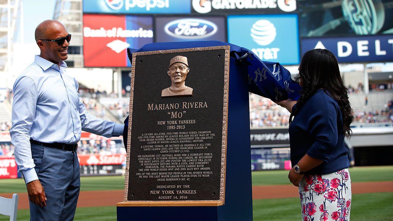 Mariano Rivera S Monument Park Plaque Unveiled Yankee Stadium Monument Park Yankees