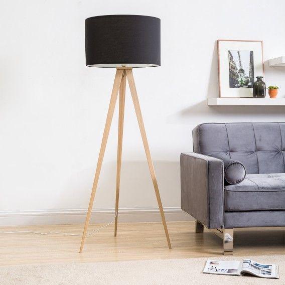 Superb Stehleuchte Tripod Iver   Webstoff / Stahl   Fashion For Home