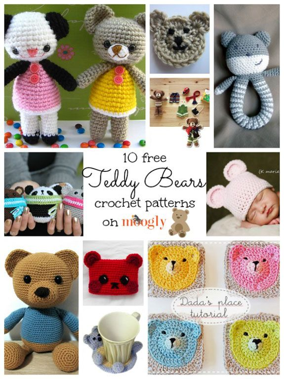 Crochet some love with these cute and cuddly Teddy Bear Patterns! ♥ #crochet - updated! now there's 11!