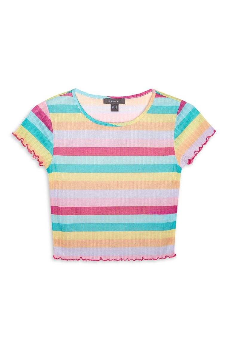 772cfa2176a Primark - Rainbow Stripe Crop Top | clothes in 2019 | Striped crop ...