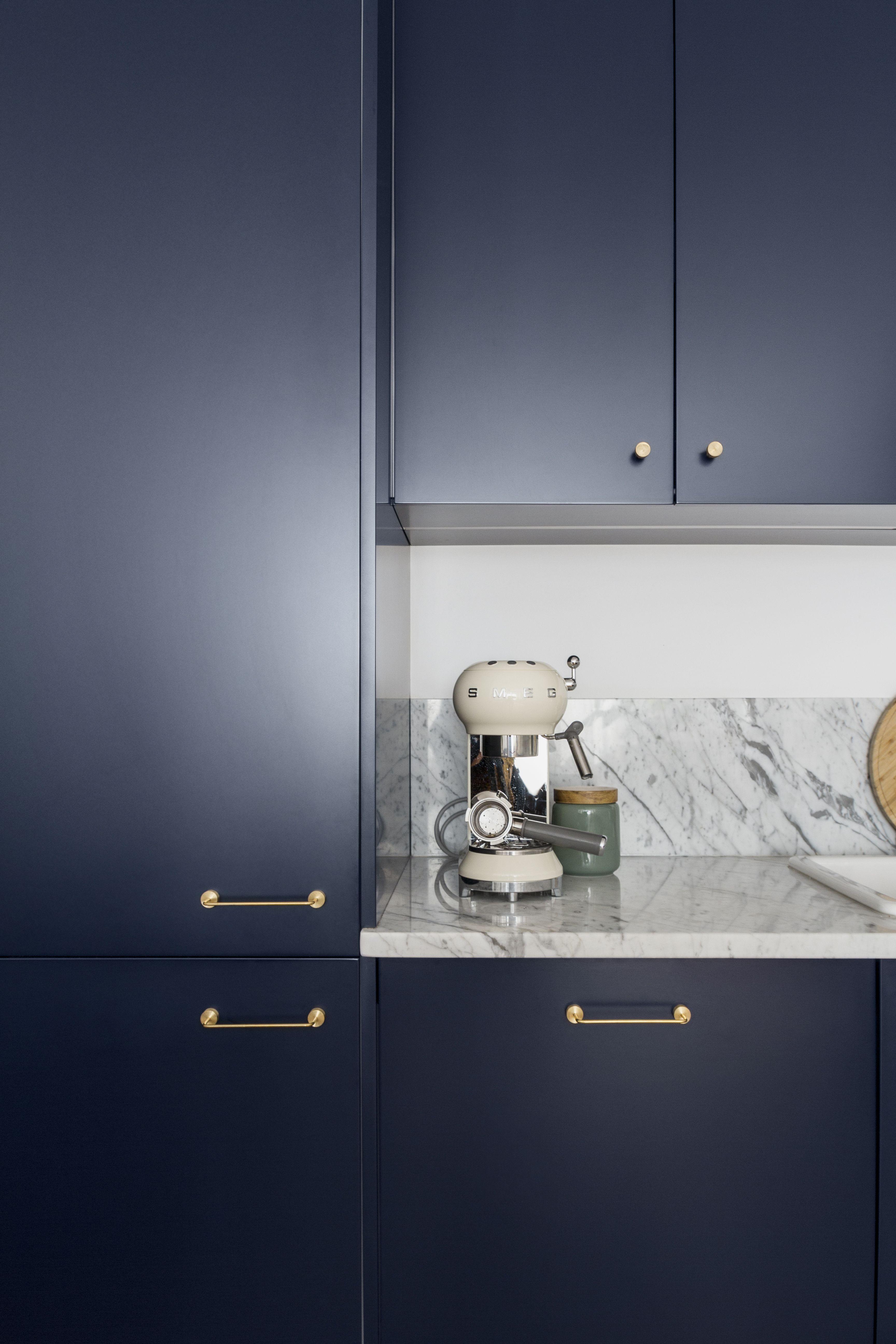 Pure Navy blue fronts on IKEA METOD kitchen.   Ikea metod kitchen ...
