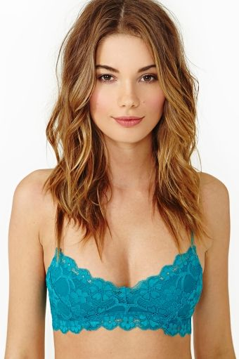 4173d3f172 Camilla Lace Bralette - Teal Nastygal Clothing Bra Crop Top Turquoise  Pastel Goth Pastel Grunge Lingerie  28