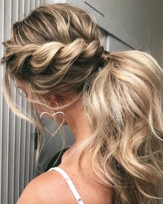 Twisted to ponytail