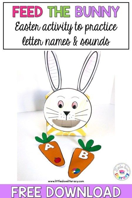 FREE Feed the Bunny Activity for Preschoolers (Perfect for Easter!)
