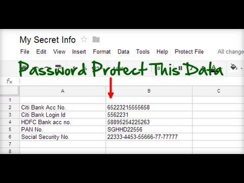 This is How to Password Protect your Spreadsheets Google Sheets