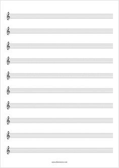 Free Blank Sheet Music You Can Choose From 24 Different Formats