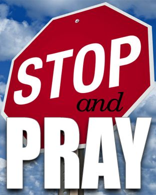 Take a moment and... Stop & Pray (as background screen for Apple Watch). If you have an Apple Watch, this image will fit both Apple Watch size screens.