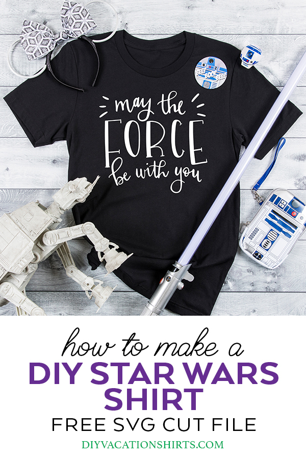 FREE Star Wars SVG May the Force Be With You Star wars
