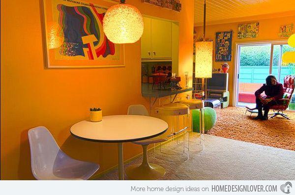 15 Kitschy Retro Dining Room Designs Retro Dining Rooms Dining Room Design Eclectic Dining Room