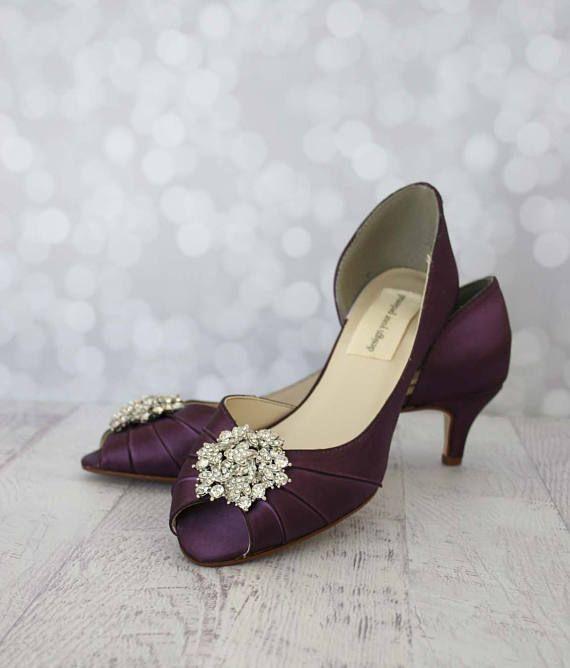 Wedding Shoes Wedding Shoes For Bride Plum Wedding Shoes Etsy Purple Wedding Shoes Custom Wedding Shoes Peep Toe Wedding Shoes