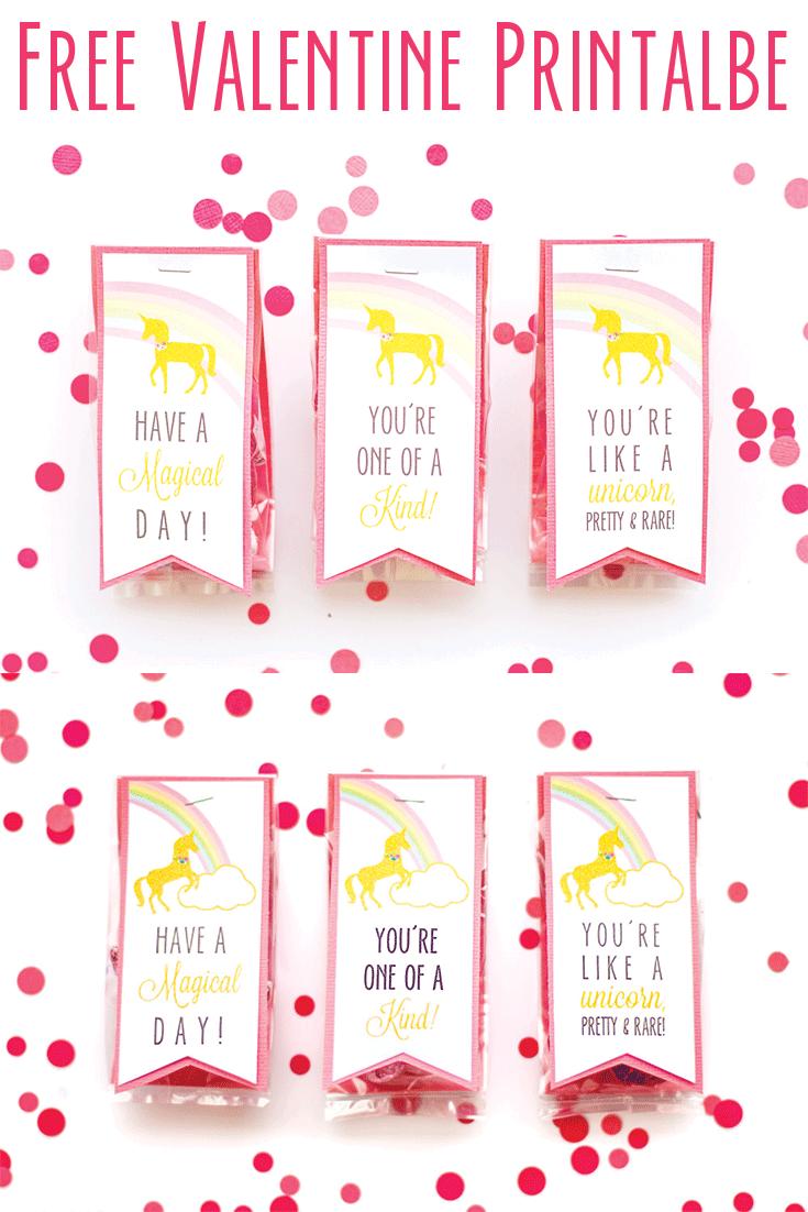 Unicorn Valentine - Free Printable Valentine\'s | Valentines | Pinterest
