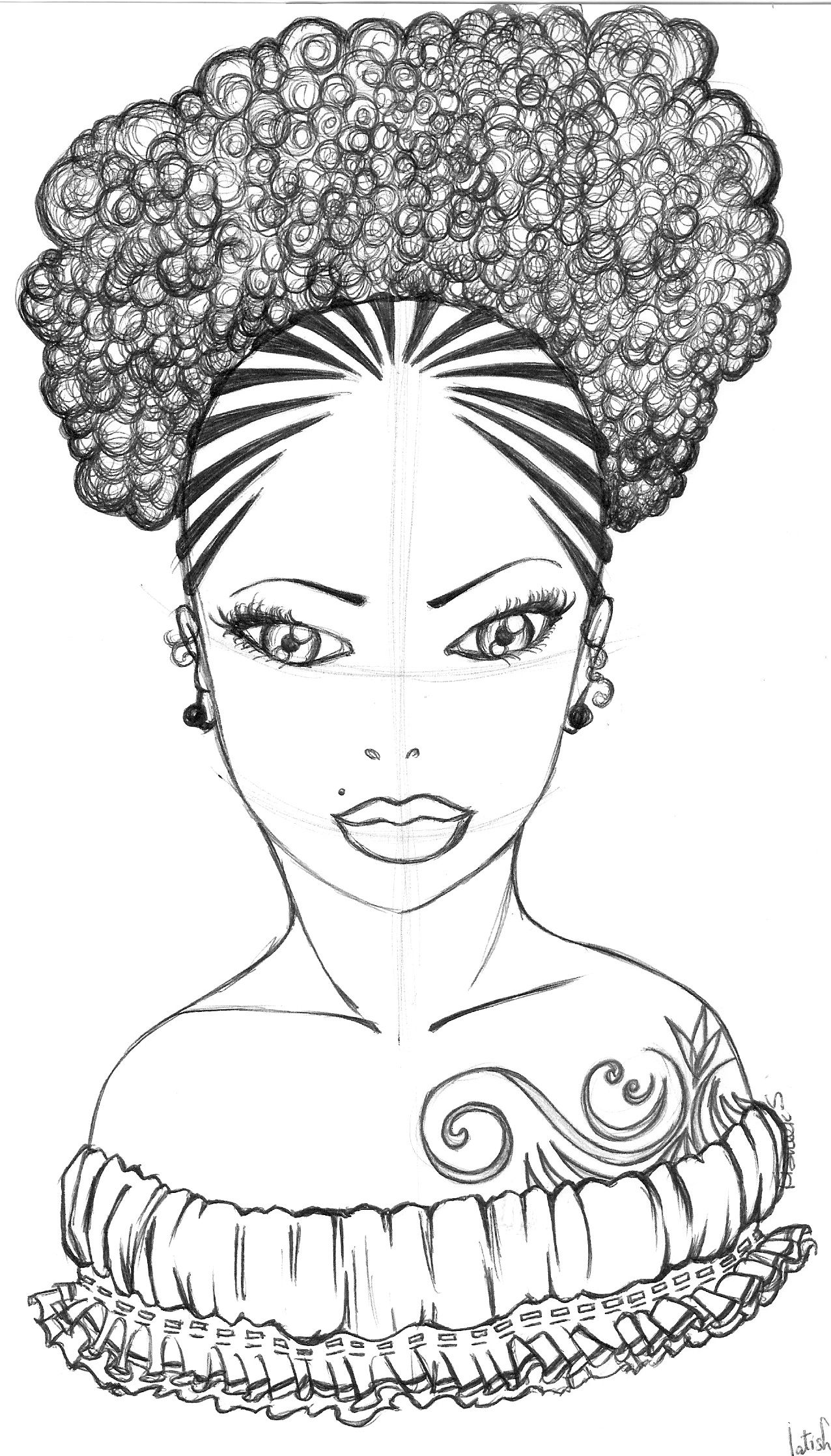 Gladys African drawings, Coloring pages, Black women art