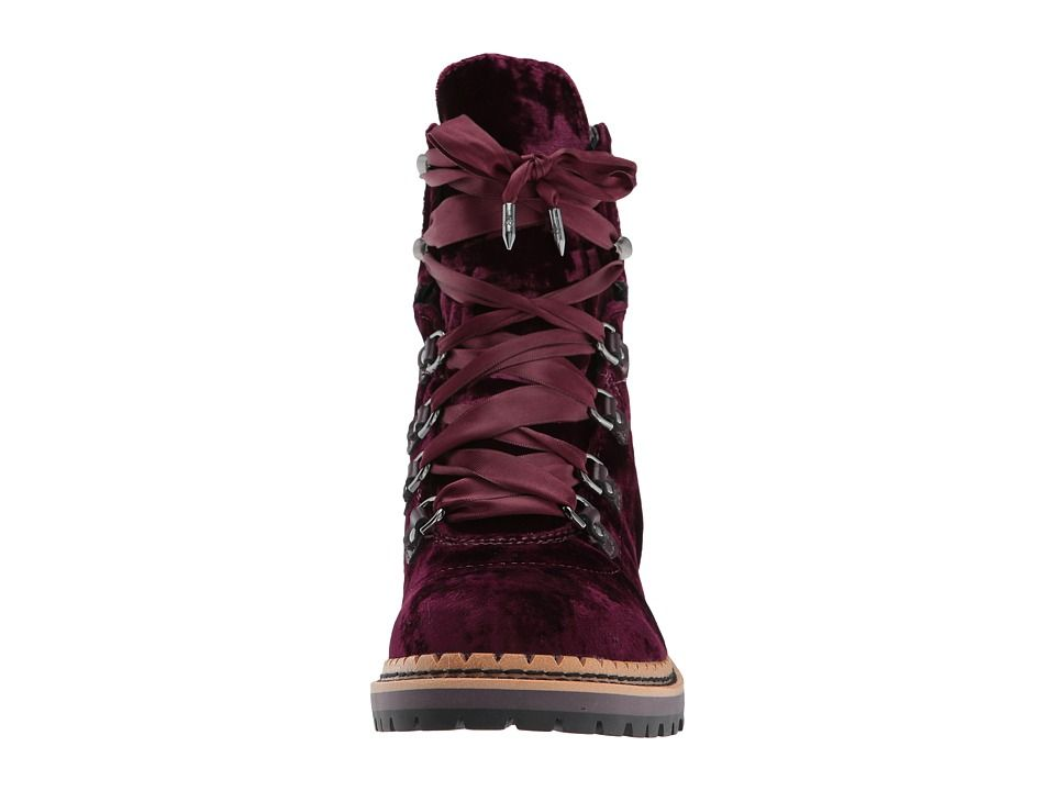 273c1d80c1eeeb ... leather-trimmed velvet ankle boots - Womens Boots 961143 best shoes  ccf3f  Sam Edelman Browan Women s Lace-up Boots Malbec Silky Velvet promo  codes ...