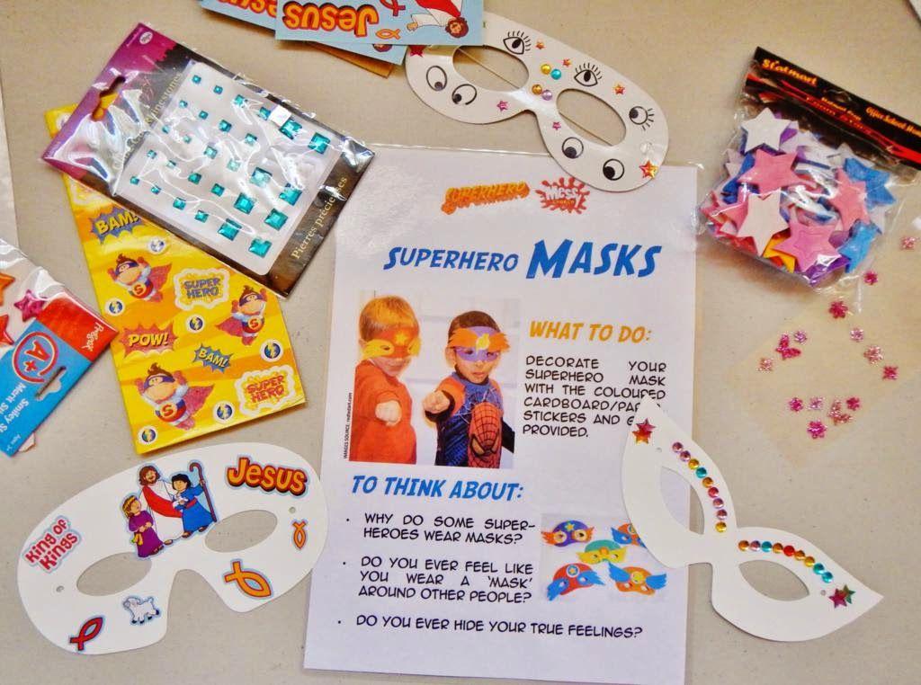 Superhero Masks To Decorate Superhero Mask Decorating  Church Ideas  Pinterest  Superhero