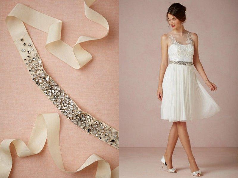 d1cedf80a Detalhes para complementar seu vestido de noiva: cintos, laços, bordados e…