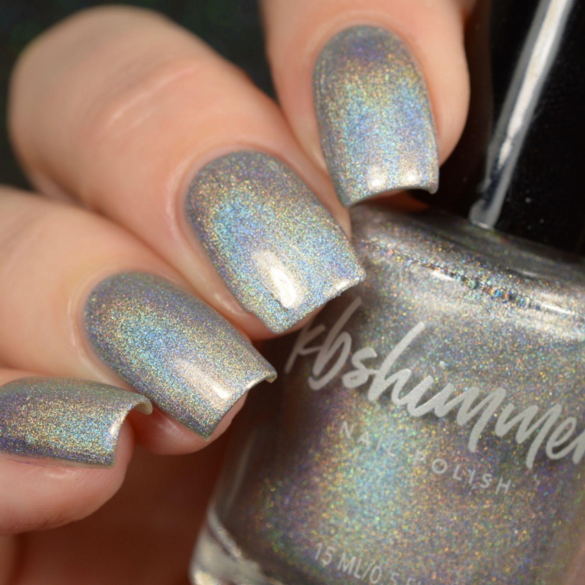 Kbshimmer Pt Young Thing Nail Polish Silver Nails Holographic