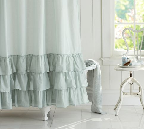 Ruffle Shower Curtain Pottery Barn Bought This Shower Curtain On