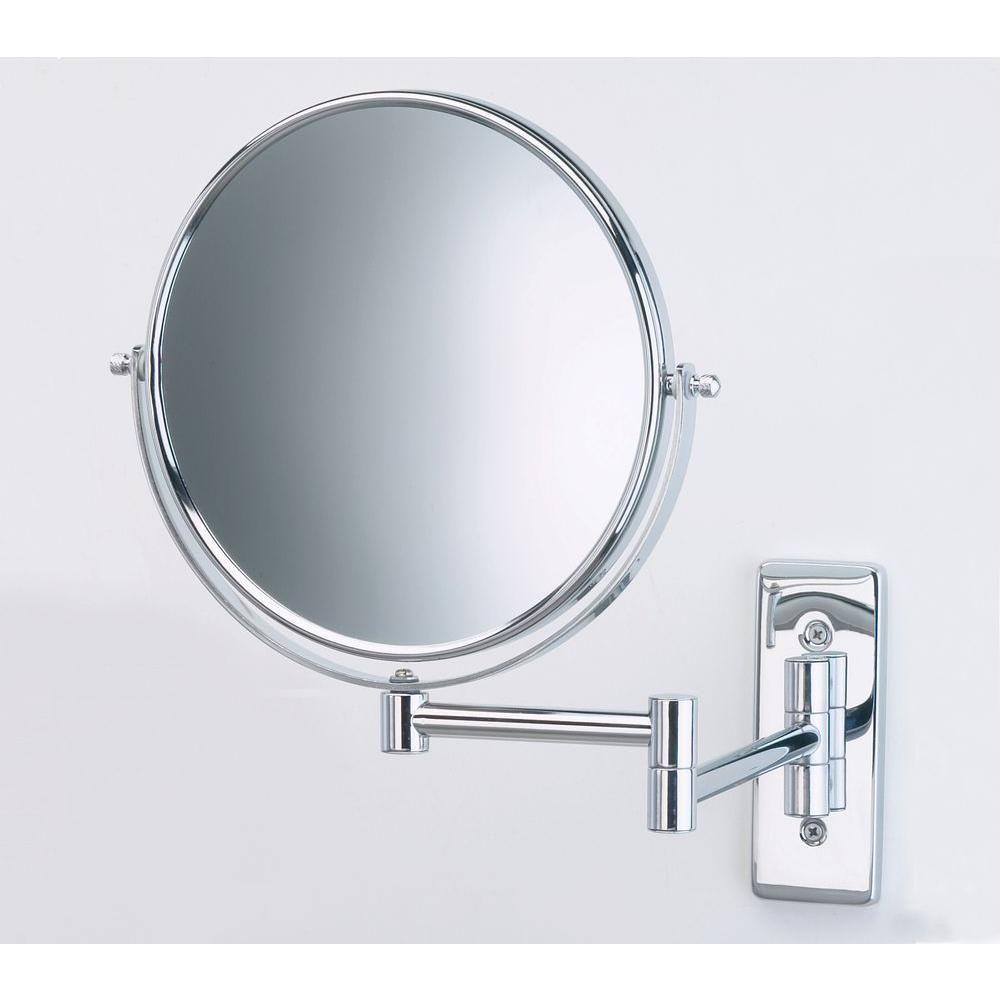 Jerdon 8 In Dia Bi View Wall Mount Makeup Mirror In Chrome Jp7506cf Wall Mounted Makeup Mirror Wall Mounted Mirror Wall Mounted Magnifying Mirror