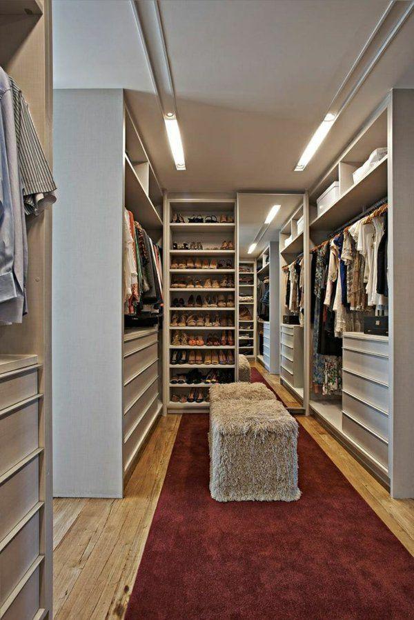 Begehbarer Kleiderschrank planen - 50 Ankleidezimmer schick ...