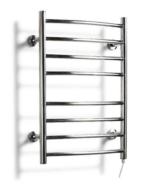 Low Freight Heated Towel Rail Curved Stainless Steel Electric