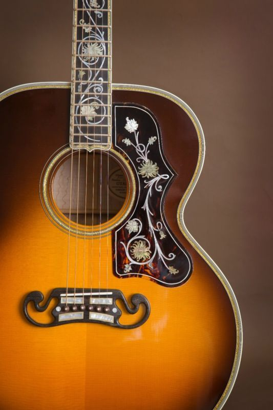 First Ever Gibson Master Museum J 200 Sj 200 Acoustic Guitar Acoustic Guitar Gibson Guitars Acoustic Guitar Photography