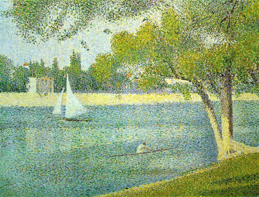 The River Seine At La Grande Jatte Georges Seurat