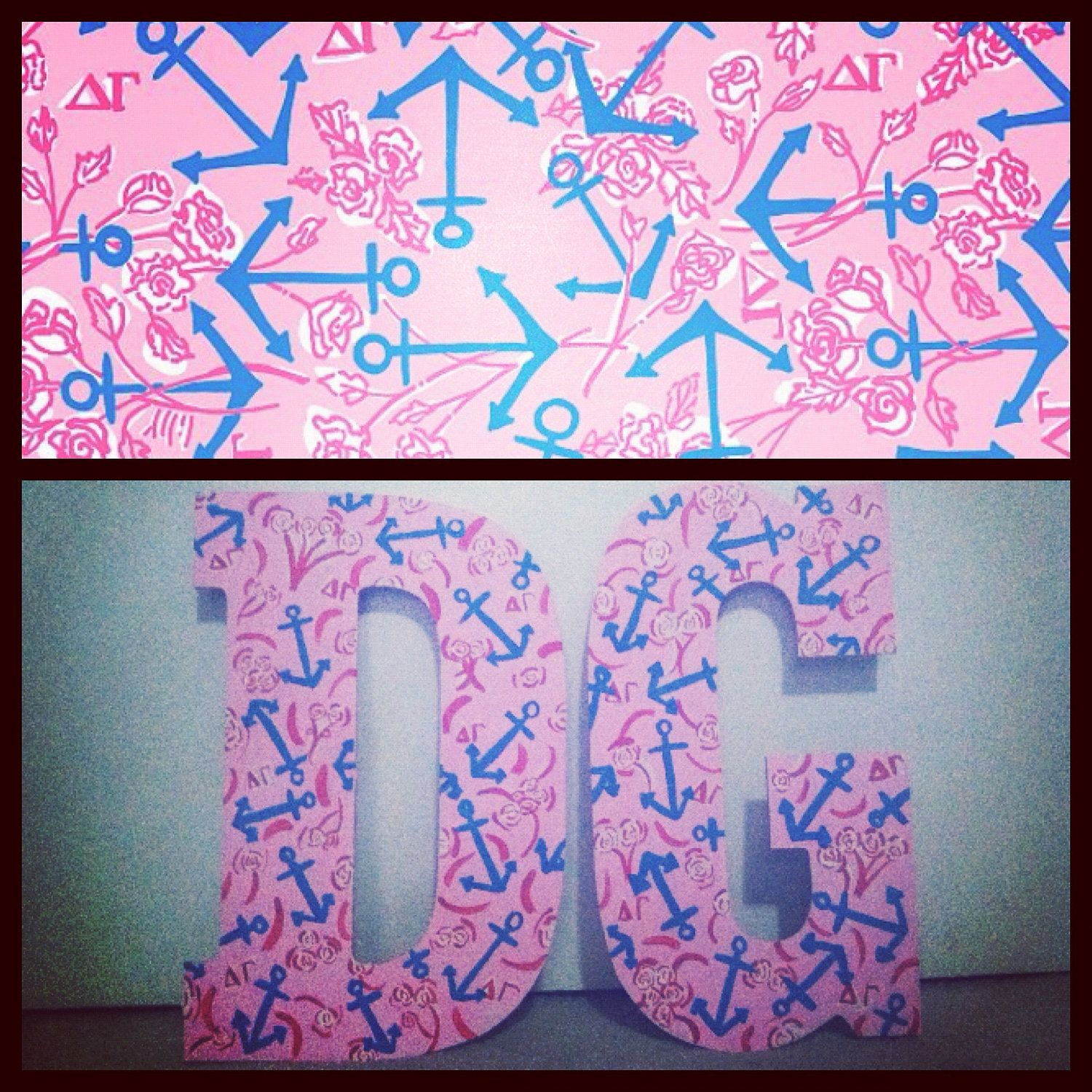 Lilly pulitzer sorority letters 3200 via etsy wish for Lilly pulitzer sorority letters