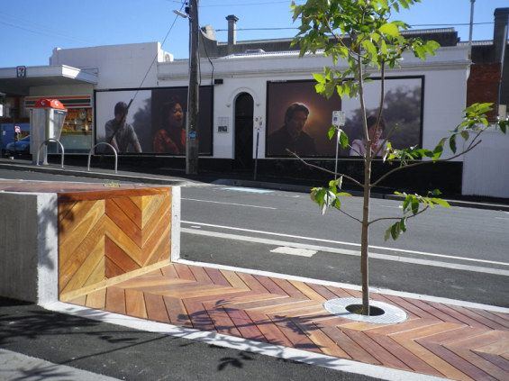 Otter Street New Public Space Seating Deck By City Of